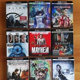 USA Blu Ray 4K UHD Bundle G - choose any 4