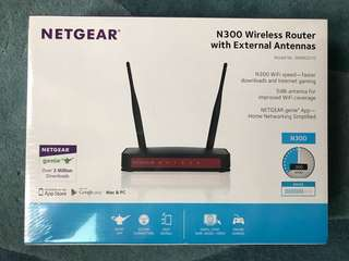 Brand New Unboxed Netgear JWNR2010 N300 Wireless Router