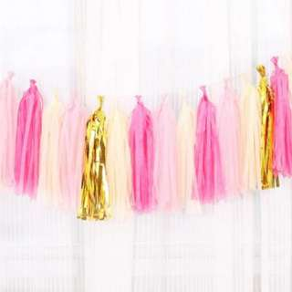 Pink Tassel Garlands