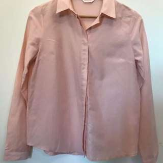 Gorman blush pink blouse size 8