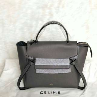 READY CELINE Micro Belt in Dark Grey Size 24 x 20 x 13