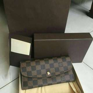 Emilie Wallet Damier 2013 With DB ,Box ,Paperbag Ori Receipt Pacific Place