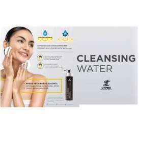 LT PRO Cleansing Water ( 150 ml ) Gentle Make up Removal, Water Based Cleansers, PEG Free,  Alcohol free,