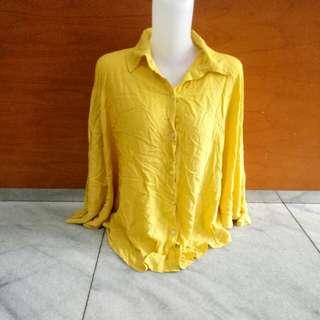 Kemeja blouse kalong kuning