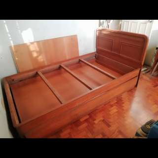 Hard Wood (TWIN) Bed Frame + Pull Out Frame