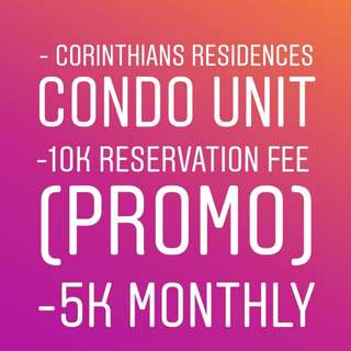 10k Reservation Fee CONDO UNIT