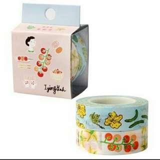 🚚 紙膠帶-蕃茄和瓜果(九成新)