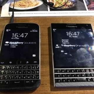 Blackberry Classic and Passport Combo