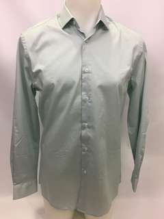 NWT Le Chateau mint green Button Up Dress Shirt Mens Size S