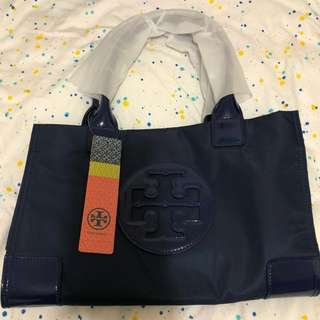 現貨🎀Tory burch Navy/Black mini ella tote bag