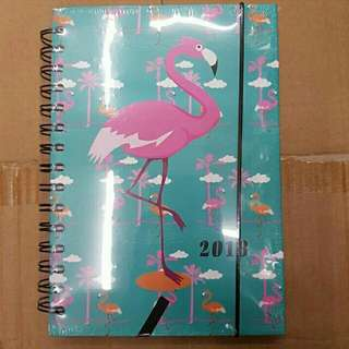2018 Hard Bound Flamingo Planner