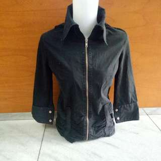 Jaket blazer outer hitam