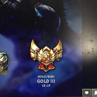 League Of Legends Account : Gold III Smurf