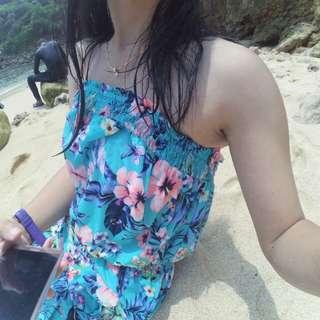 Jumswit hnm pull bear bershka pantai flower floral