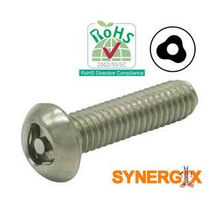 SPECIAL Security Screw Trio Button Stainless | M6X25mm | 02pcs pack