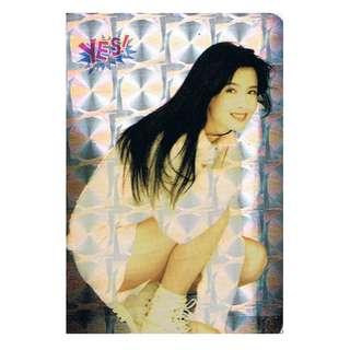 U-01-S, 閃卡YES CARD,周慧敏 ,背面曲詞-愛我所愛,全購系列-原價6折
