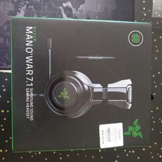 MAN O'WAR 7.1 SURROUND HEADPHONE with Stand