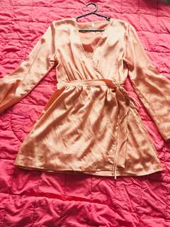 Silky pink playsuit