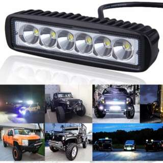 Sport light bar for car/track 18W power 9V/12V
