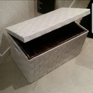 Woven Wicker Storage Box