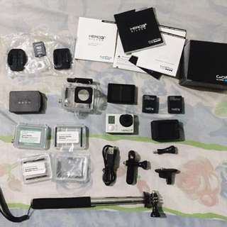 RUSH SALE! Go pro Hero 3+ with LCD