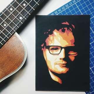 Ed Sheeran Layered Papercut Portait