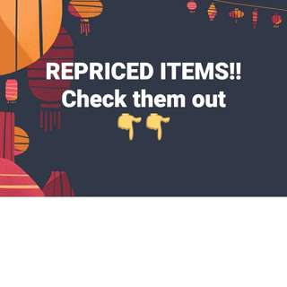 All items Repriced!!