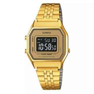 Casio Classic Series Women Gold Stainless Steel Strap Digital Watch LA680WGA-9B