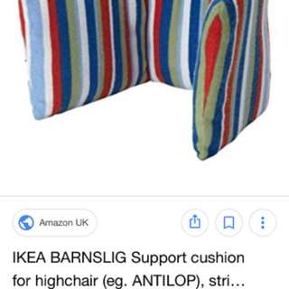 Support cushion for highchair