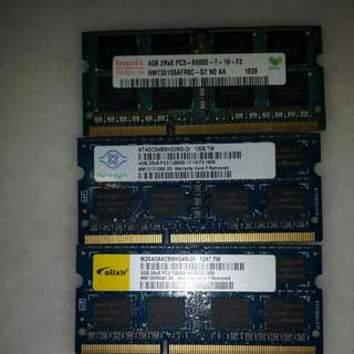 Various brand ddr3 4gb laptop memory