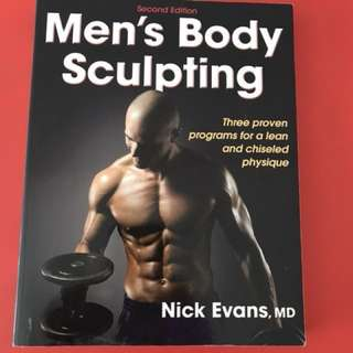 MEN'S BODY SCULPTING BOOK - BODY BUILDING SPORTS FITNESS MUSCLES