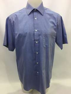 Joseph & Feiss Classic Fit Button Up Shirt Mens Size 16