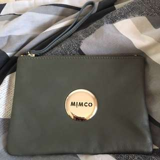 MIMCO khaki medium pouch