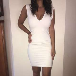 Kookai Size 1 White Bodycon Dress