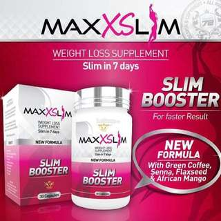 MAXX SLIM BOOSTER / 30 capsules.  Processing proceed upon full payment received via bank transfer