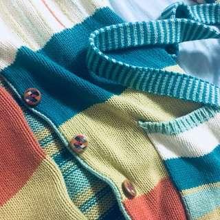 歐式民族風針織長版外套