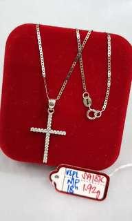 18k Saudi Whitegold Necklace/pawnable