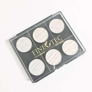 coliro finetec pearl moiree iridescent palette of 6