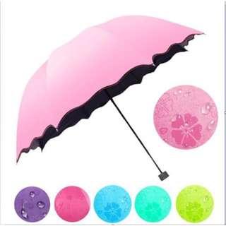 Folding Sun/Rain Windproof Flowering Umbrella