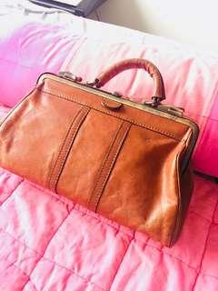 antique leather bag