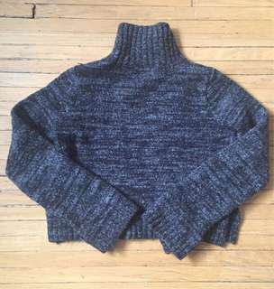 ZARA Grey Cropped Sweater Sz S