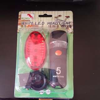 Bicycle Headlight and Red LED