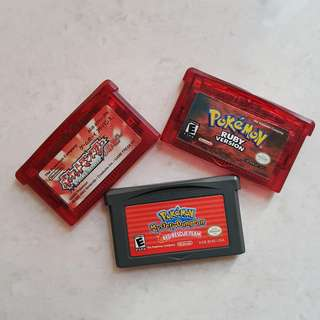 Gameboy Advance Pokemon Cartridges