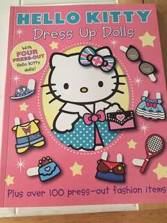 Hello Kitty dress up paper dolls Book