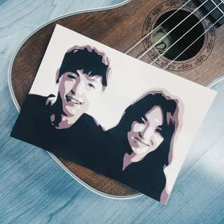 Song Joong Ki & Song Hye Kyo Layered Papercut Portrait