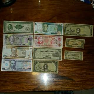 Various Philippine Banknotes