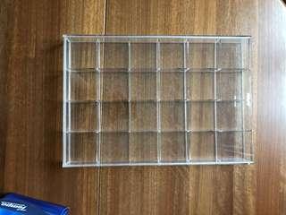 透明展示箱 24小格 display box
