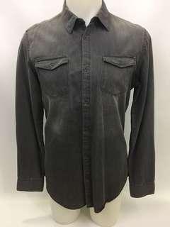 Calvin Klein denim button up shirt men's size small