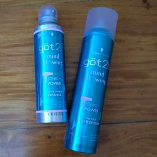 Schwarzkopf got2b Mind Blowing Ionic+Power Mousse with fast Drying Hairspray
