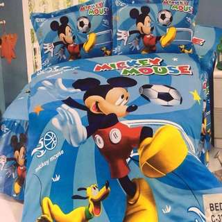 4 in 1 Mickey Mouse Character US Cotton Bedsheets Set